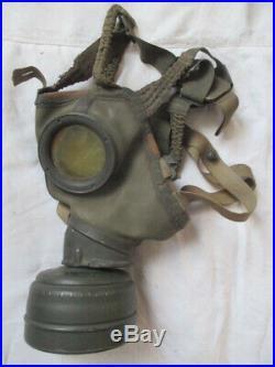 Superbe Masque A Gaz Wh Complet Daté 1944 Camouflé 2 Tons Tbe++ Allemagne