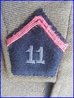 Superbe Vareuse Adjudant-Chef 11ème régiment de Cuirassiers 1940 WW2