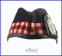 Superbe calot Anglais King's own scottish borderers WW2 (matériel original)