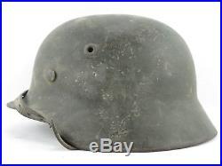 Superbe casque allemand mdl 40 TERRAIN MILITARIA ORIGINAL ALLEMAND HEER WH WWII