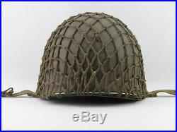 Superbe casque américain USM1 TERRAIN NORMANDIE 1944 US WWII