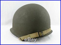 Superbe casque américain USM1 casque US ARMY OIGINAL US WWII 39 45
