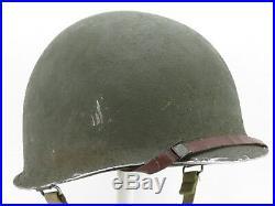 Superbe casque américain US M1 1944 COMPLET MILITARIA ORIGINAL US WWII 39 45
