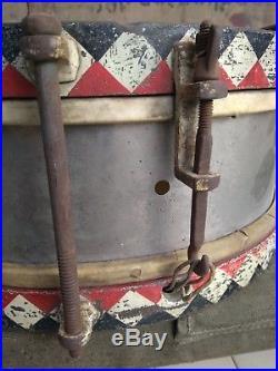Tambour Allemand Wehrmacht Luftwaffe Régimenté WW2 German drum Marschtrommel
