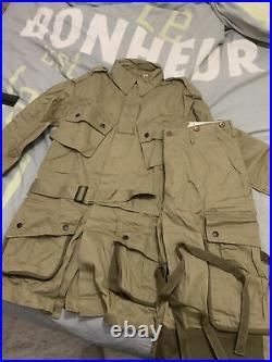 Tenue (veste Et Pantalon) M1942 Renforcee Us Ww2 type 82nd Airborne