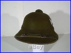 Trés beau casque colonial allemand afrika korps AK 2ém guerre ww2 100% original