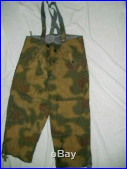 Très rare ensemble camouflé tenue hiver original du soldat Allemand stock WW2