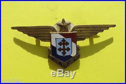 Très rare insigne des Forces Aériennes de la France Libre, numéroté 7677