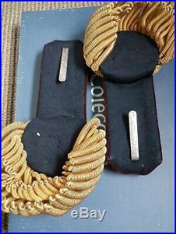 Très rare paire épaulette de général médecin