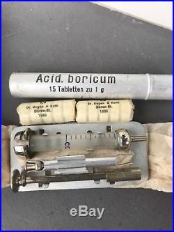 Trousse dinfirmier complète 39/45 datée 1938 (Très rare)