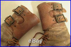 US WWII Buckle Boots Brodequins à jambières