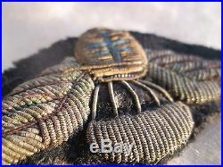 Véritable insigne parachutiste FFL commando SAS cannetille pas casque allemand