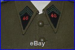 Vareuse 46° Groupe De Reconnaissance De Region Fortifiee-46° Grrf-maginot 1940