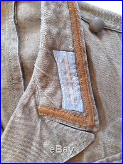 Vareuse allemande 2e GM Afrikakorps/ Tropical Fieldjacket/ Tropen Feldbluse WW2