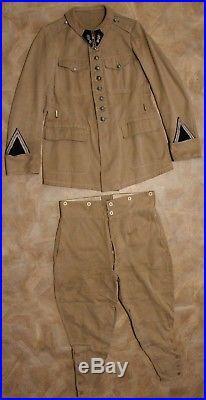 Vareuse col aiglon culotte de cheval gendarmerie départementale été 1940