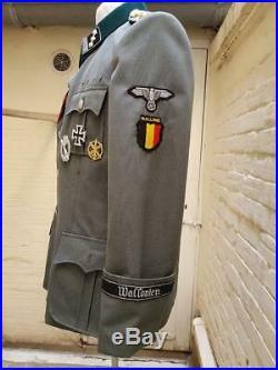 Vareuse m36 Officier d'élite de la Division wallonie, Léon Degrelle