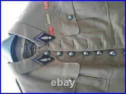 Vareuse uniforme Automitrailleuses 1930 col aiglon France WW2