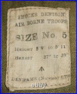 Veste Originale Camouflée Denison Smock En Parfait État Datée De 1945