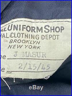 Veste + casquette de contre-Amiral US Navy datée Février 1945 WW2 ORIGINALE