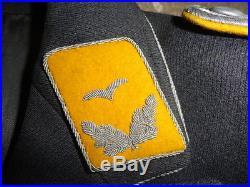 Veste militaire d'officier Lieutenant pilote allemande de la luftwaffe ww2