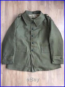 Veste mle 1935 bourgeron France 40 vareuse troupes motorisées 35 mécanisée NEUVE