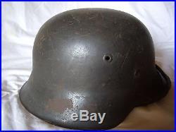 Wehrmacht Heer Superbe Casque Allemand Modele 1942