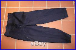 WW1 militaria pantalon d'uniforme 14-18 bleu marine avec liseré jaune
