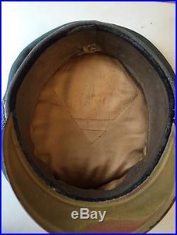 WW2 39-45 CASQUETTE OFFICIER ALLEMAND INFANTERIE SCHIRMÜTZE 1944 VERCORS