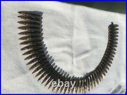 WW2 Bande pour mitrailleuse MG avec ses 50 cartouches (tout d'époque)