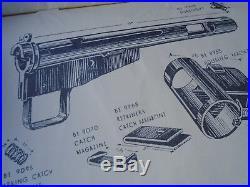 WW2 Britannique Pistolet Manuel Tommy Sten Mkii Original Réimpression Livret