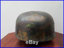 WW2 CASQUE PARA ALLEMAND FALSCHIRMJAGER NORMANDY HELMET POIDS1063 gr