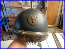 WW2 Casque Adrian Troupe Motorisée Aviation Complet mdle 35 daté 1940 Coiffe