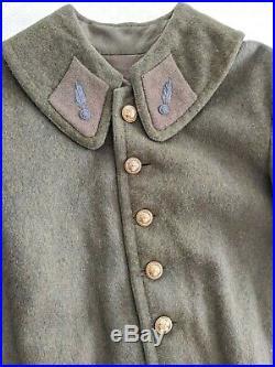 WW2 FRANCE 1939 1940 Manteau officier Modèle pour troupes montées