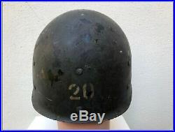 WW2 US Casque liner 4th avec nom Utah Dday Airborne Para Omaha veste vareuse