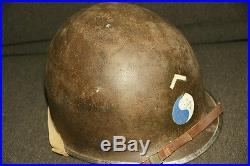 WW2 WWII Casque US M1 HELMET 29th Division Normandie Normandy