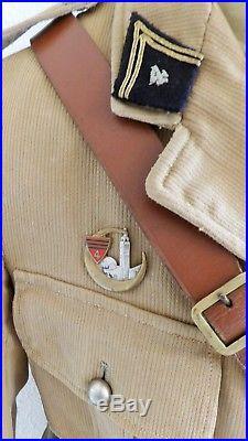 Ww2 Armee D'afrique Lot Tenue Uniforme Casque Officier Chasseurs D'afrique