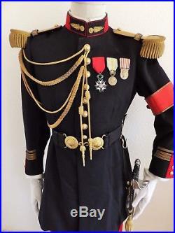 Ww2 France 40 Lot Grande Tenue Modèle 31 Uniforme Képi Officier Détat-major