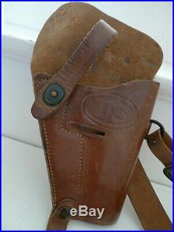 Ww2 Gi Us Holster Etui M3 Colt 45 Enger Kress 1944 Materiel Original