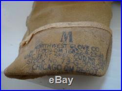 Ww2 Us Army Paratrooper Airborne Gants Gloves Identifies 1943 Materiel Original