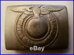 Ww2 boucle allemande original denazifier paratrooper wwii airborne casque rare