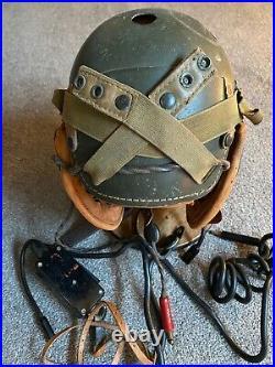 Ww2 casque tankiste US super complet Original