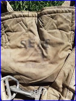 Ww2 harnais pilote pilot harness paratrooper airborne original an 6513 parachute