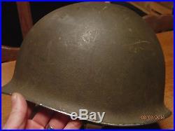 Ww2 original helmet us casque helmeto normandie paratrooper airborne jonc avant